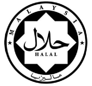 Standard halal logo by JAKIM..