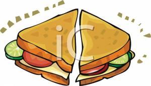Half Sandwich Clipart.