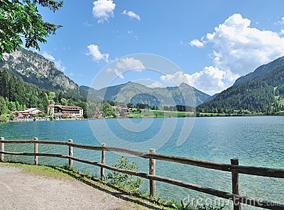 Lake Haldensee,Tirol,Tannheimer Tal,Austria Stock Photo.