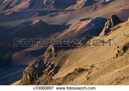 Picture of Aerial of dormant volcano in Haleakala National Park.