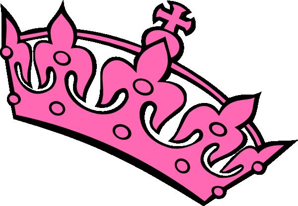 Pink Haley Tiara Princess Clip Art at Clker.com.