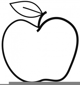 Apple Half Clipart.