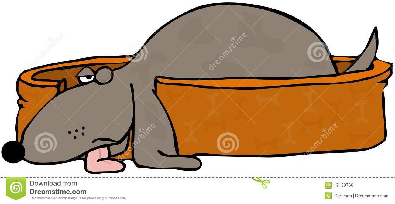 Cartoon Sleeping Dog Stock Illustrations.