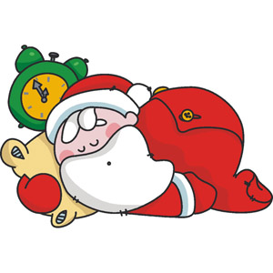 Home Sleeping Santa Clipart.