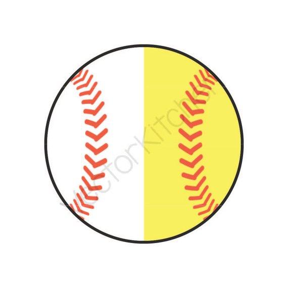 Half softball clipart 2 » Clipart Station.