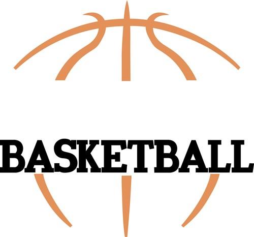 Basketball Outline Clipart.