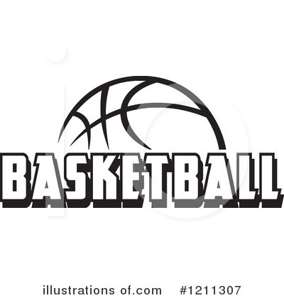 Half Basketball Clipart Black And White.