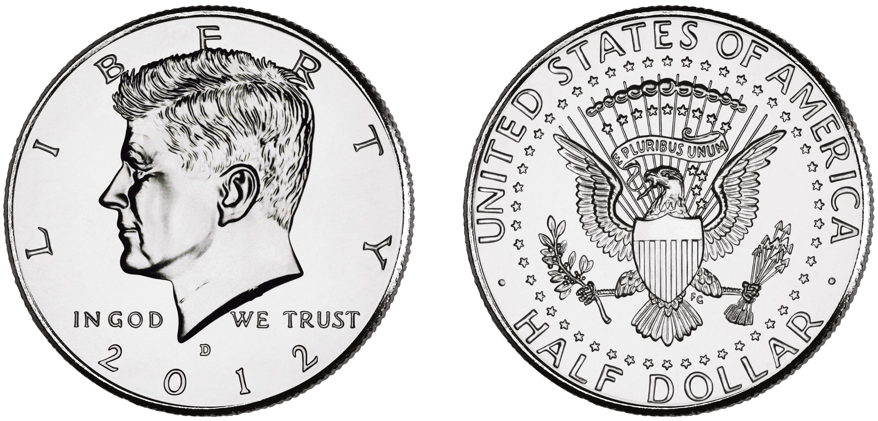 United States half dollar.