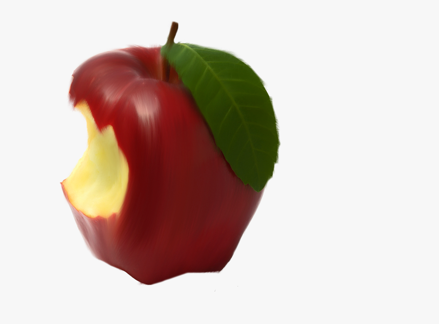Transparent Half Eaten Apple Clipart.