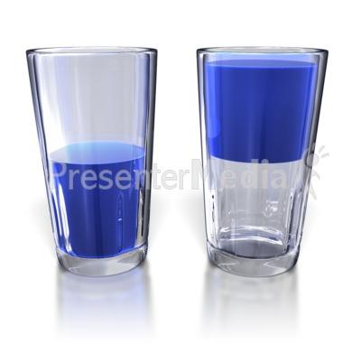 Glass Half Full and Half Empty.