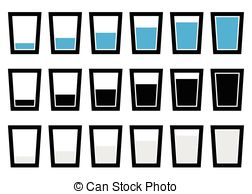 Clipart of half empty or full.