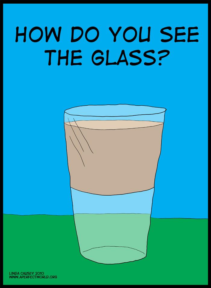 Glass half full clipart.