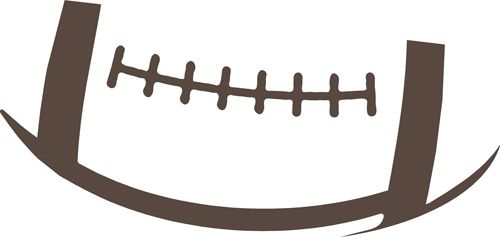 Football Outline Wall Decal.