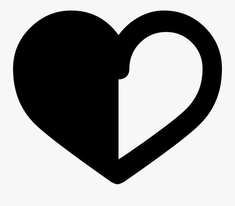 Half Black Half White Heart , Free Transparent Clipart.