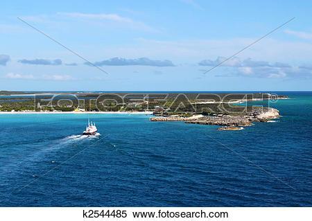 Stock Image of Half Moon Cay in the Bahamas k2544485.