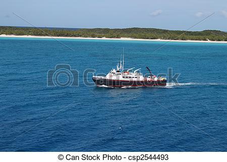 Stock Photos of Half Moon Cay in the Bahamas.