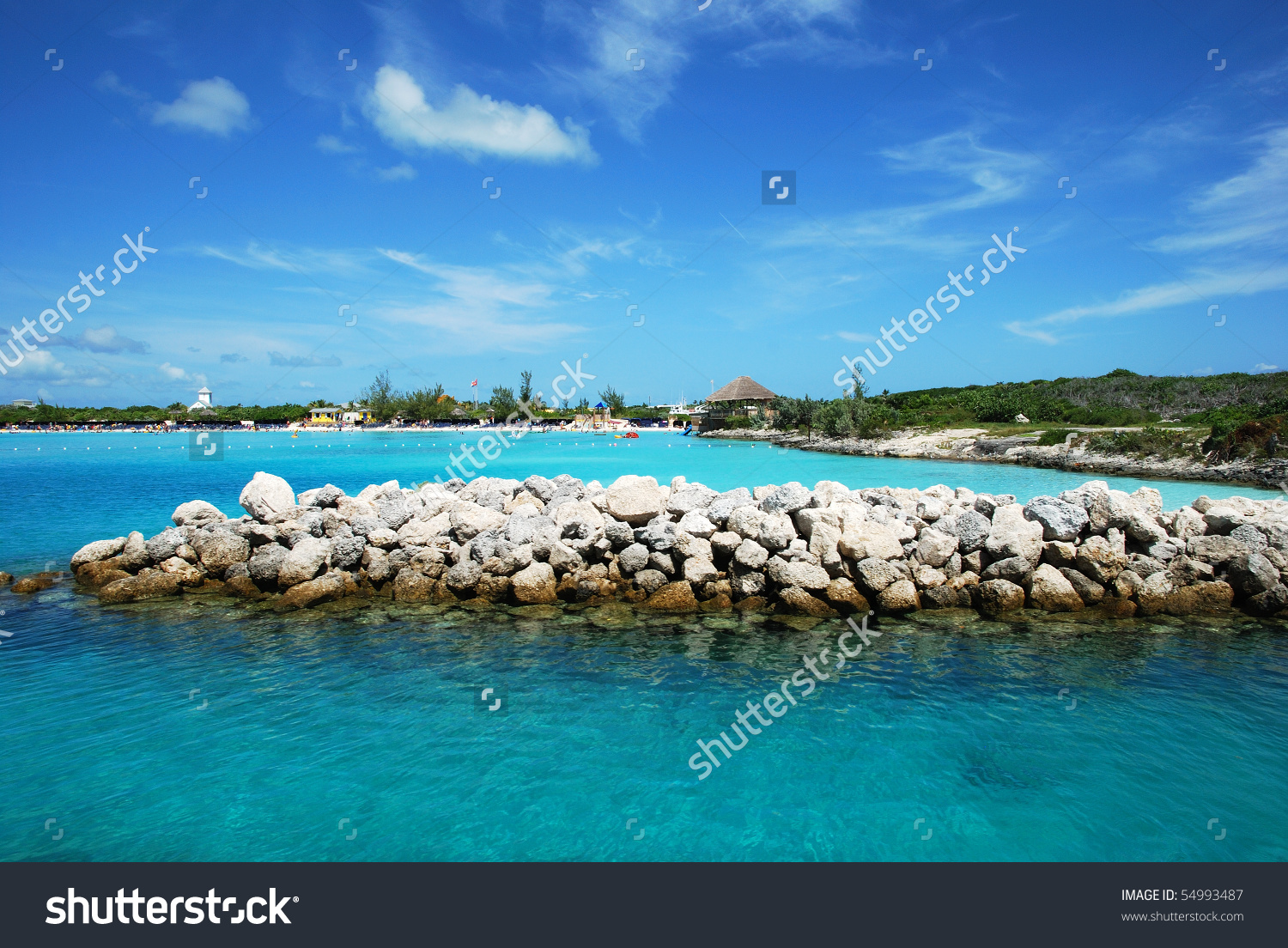 View Oh Half Moon Cay Little Stock Photo 54993487.