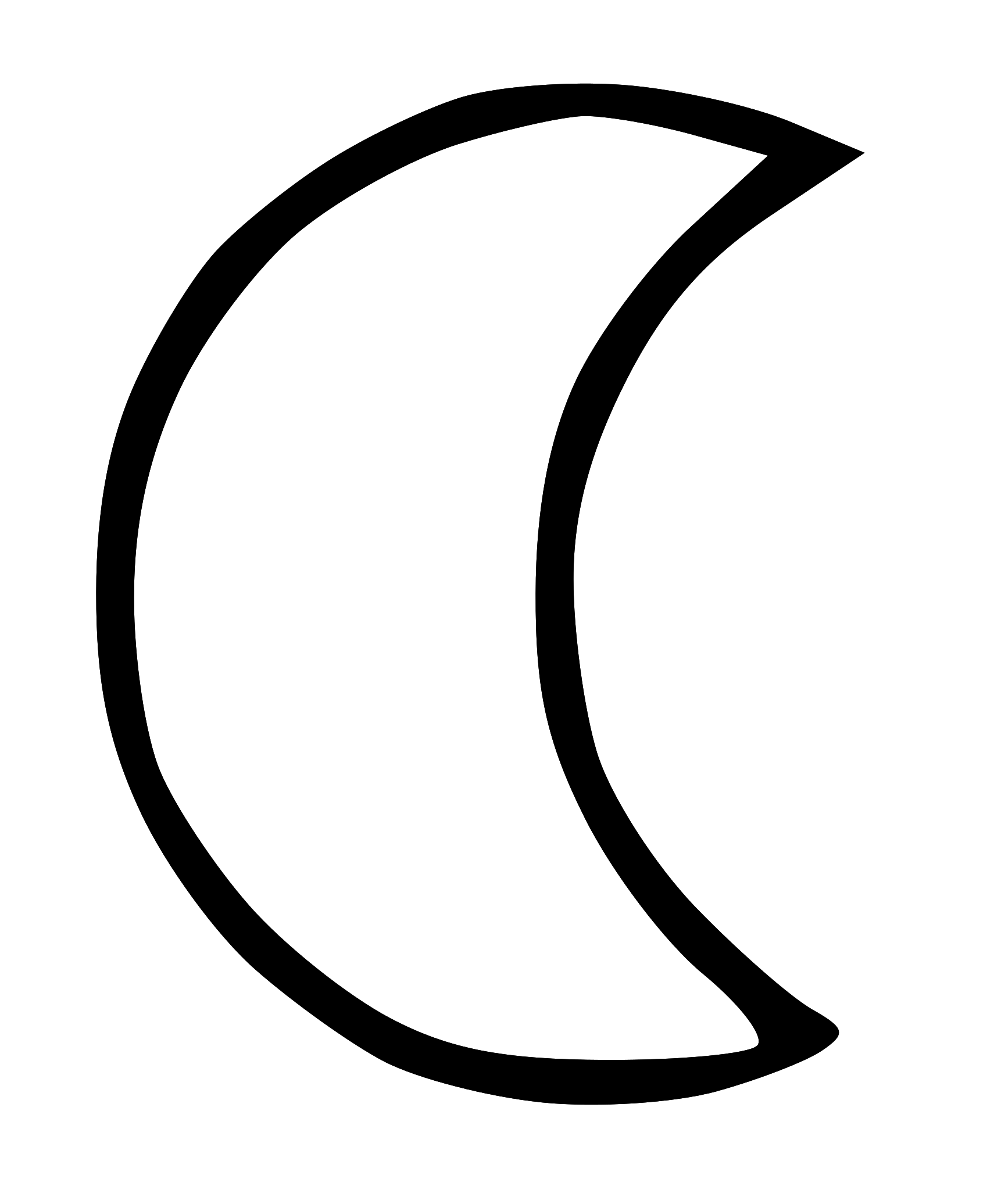 Half Moon Black And White Clipart.