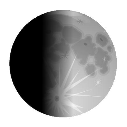 Free Half Moon Clip Art.