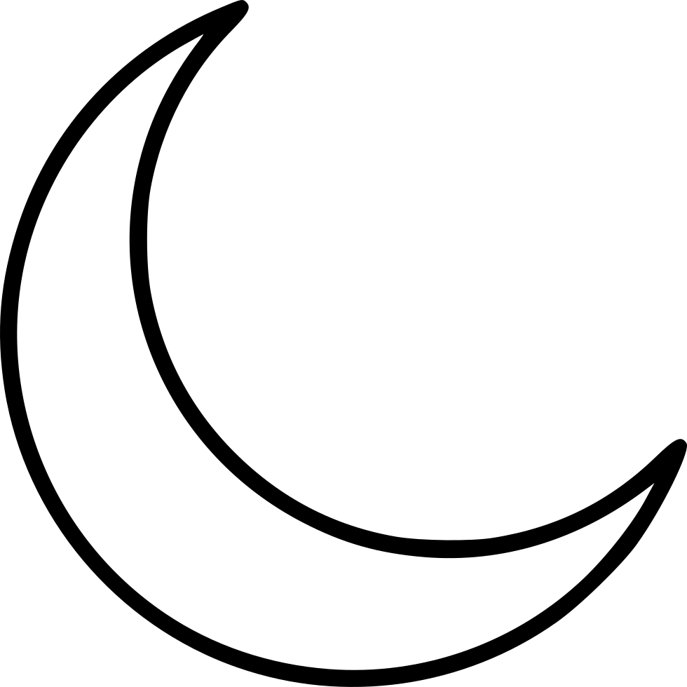 Crescent moon clipart black and white clipart images gallery for.