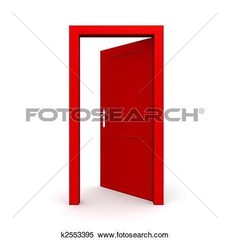 Drawings of Open Single Yellow Door k3786994.