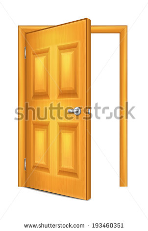 Open Closet Door Clipart