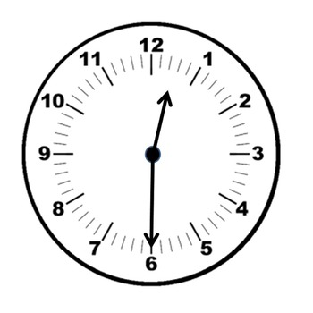 Clock clipart half past the hour(freebie).