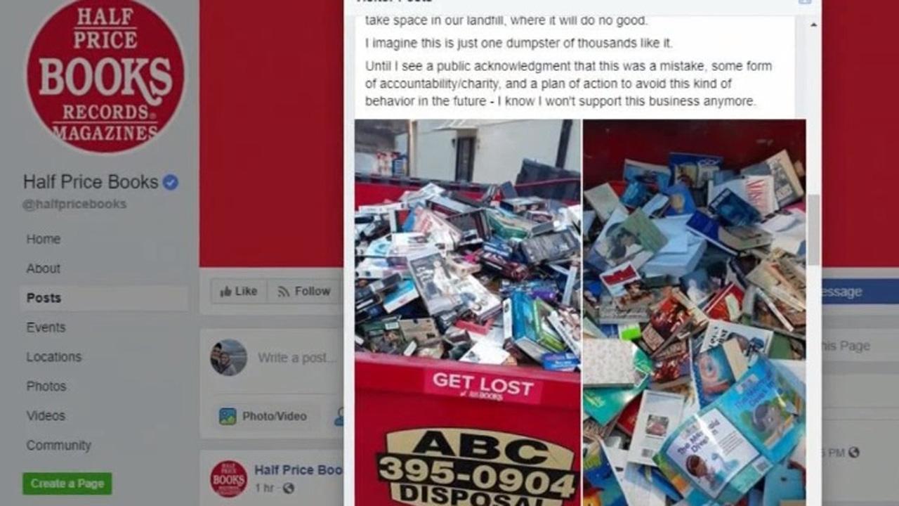 Materials in dumpster were damaged, unusable, Half Price.