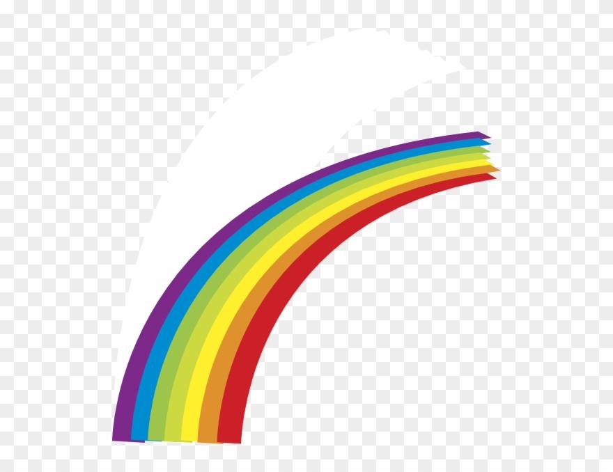 Cartoon Half Rainbow Clipart.