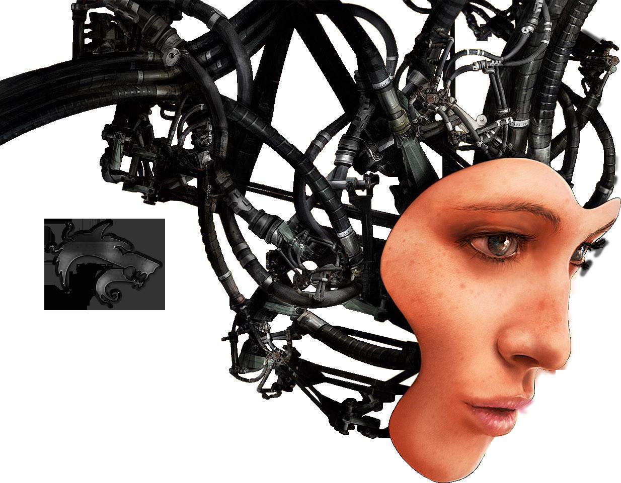 Robot Png Half Face.