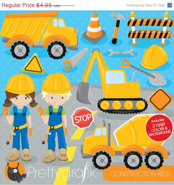 80% OFF SALE Construction trucks clipart commercial use, Jungle.