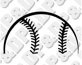 Half Softball Clipart.