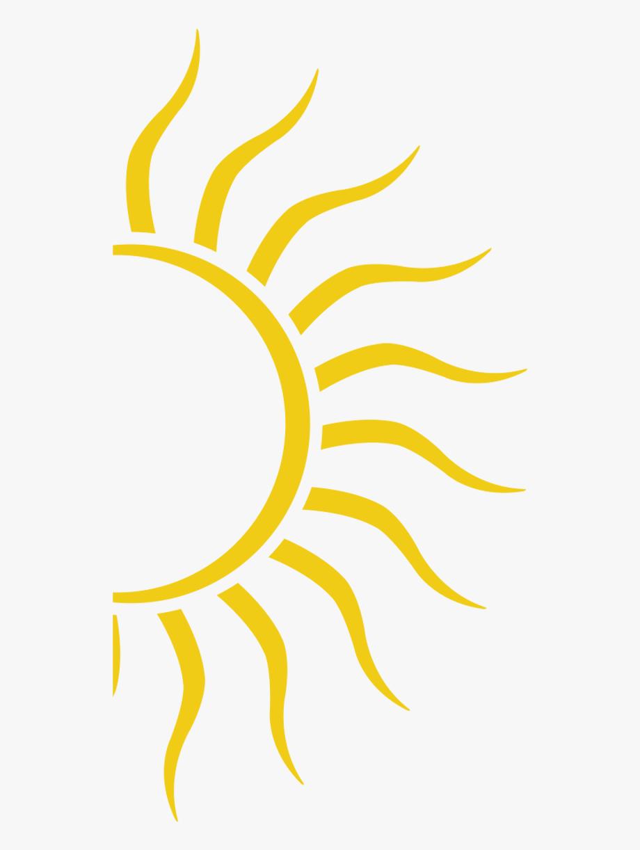 Half Sun Clipart.