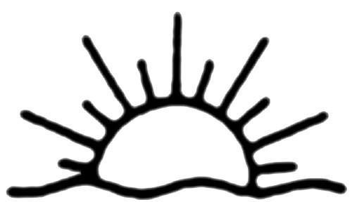 Sun black and white half sun clipart black and white.