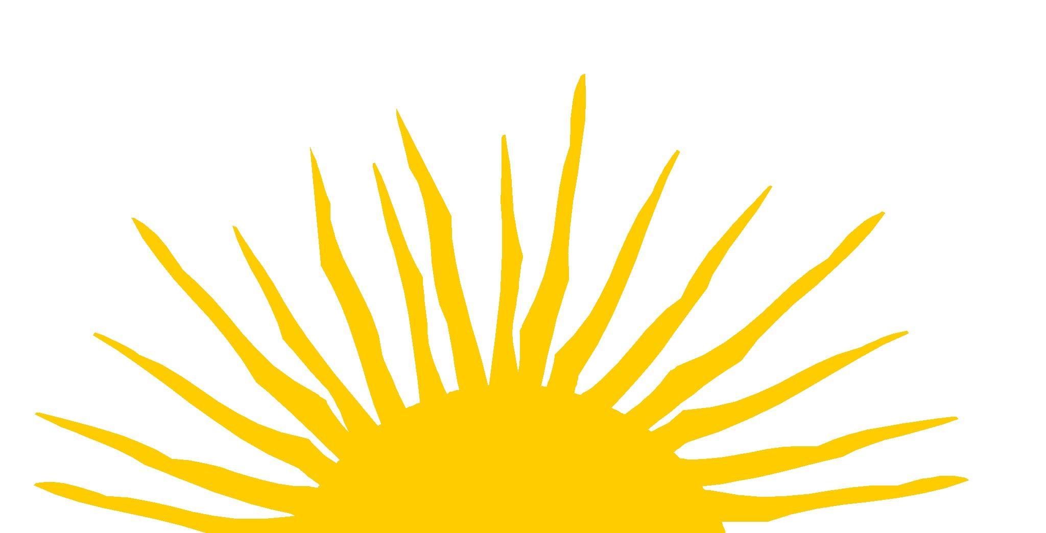 Half Sun With Rays Clipart (17+).