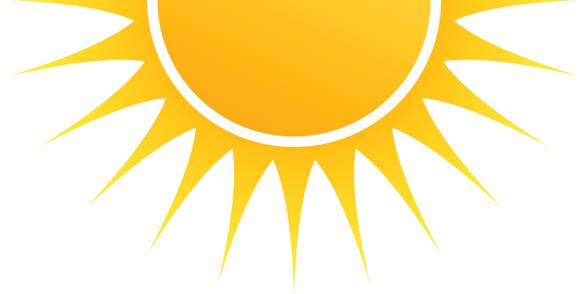 239 Half Sun free clipart.