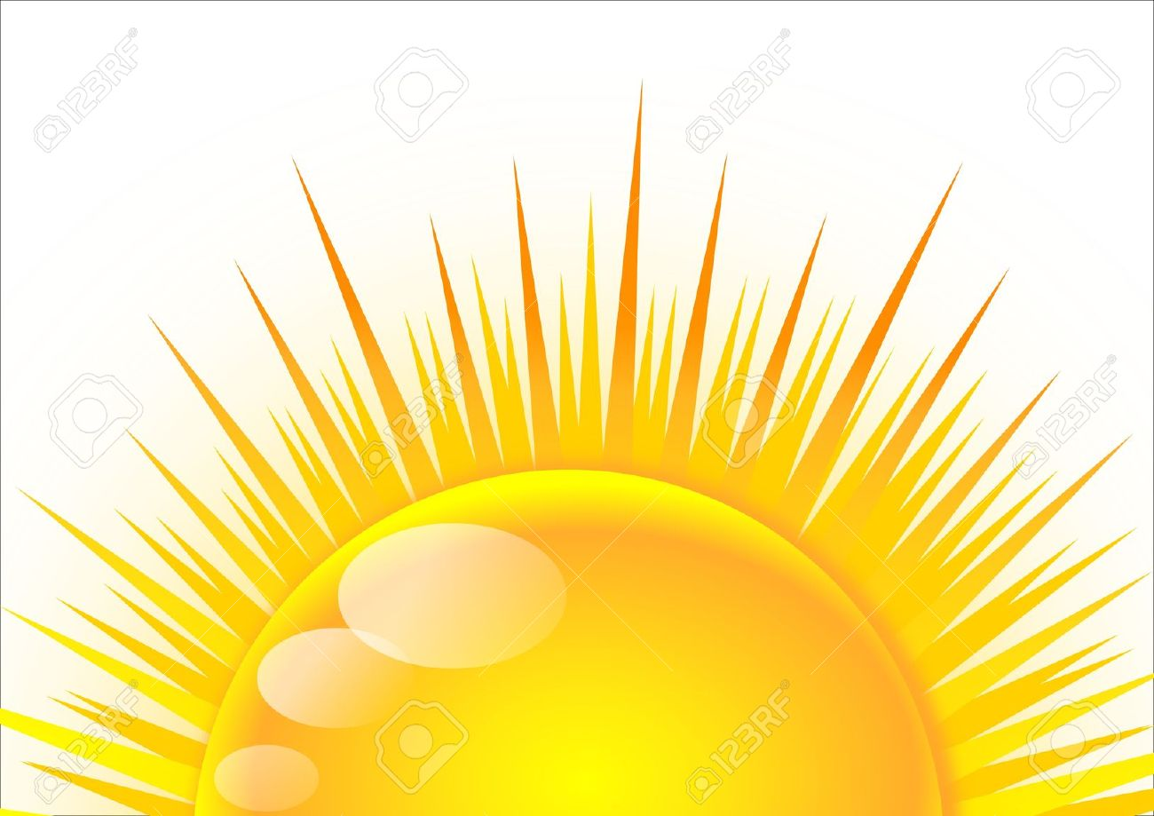 Half sun with rays clipart 2 » Clipart Station.