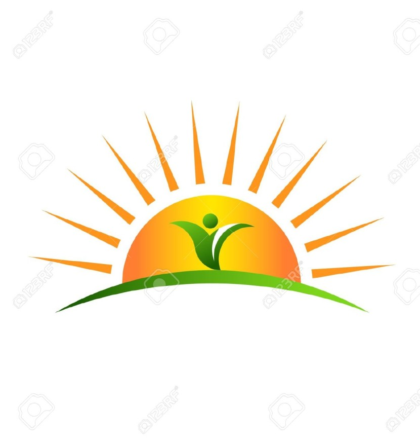 Half sun with rays clipart 4 » Clipart Station.