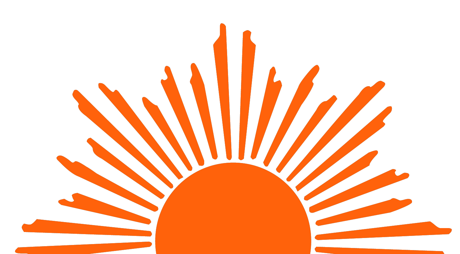 Half Sun With Rays PNG Transparent Half Sun With Rays.PNG.