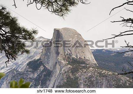 Pictures of Half Dome in Yosemite National Park California stv1748.