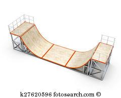 Skatepark Ramp Clipart.