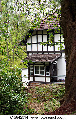 Stock Photo of Half timber frame house k13842514.