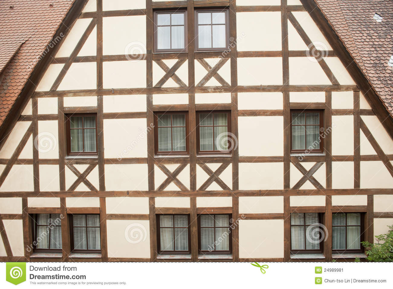 Traditional Half Timber House In Germany . Stock Image.