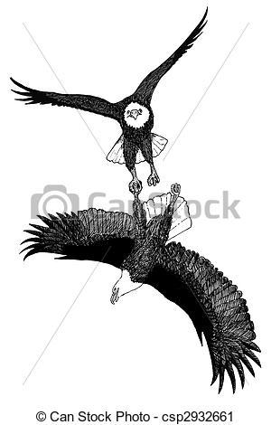 Clipart of Bald Eagle.