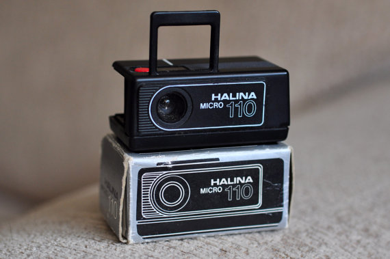 Vintage Halina Micro 110 Film Camera.