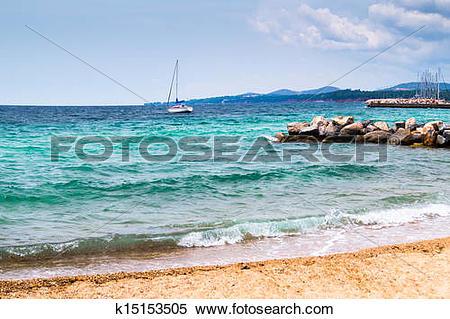 Stock Image of Summer resort of Halkidiki peninsula in Greece.