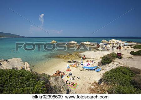 """Stock Photograph of """"Portokali Beach, Kavourotrypes, Sithonia."""