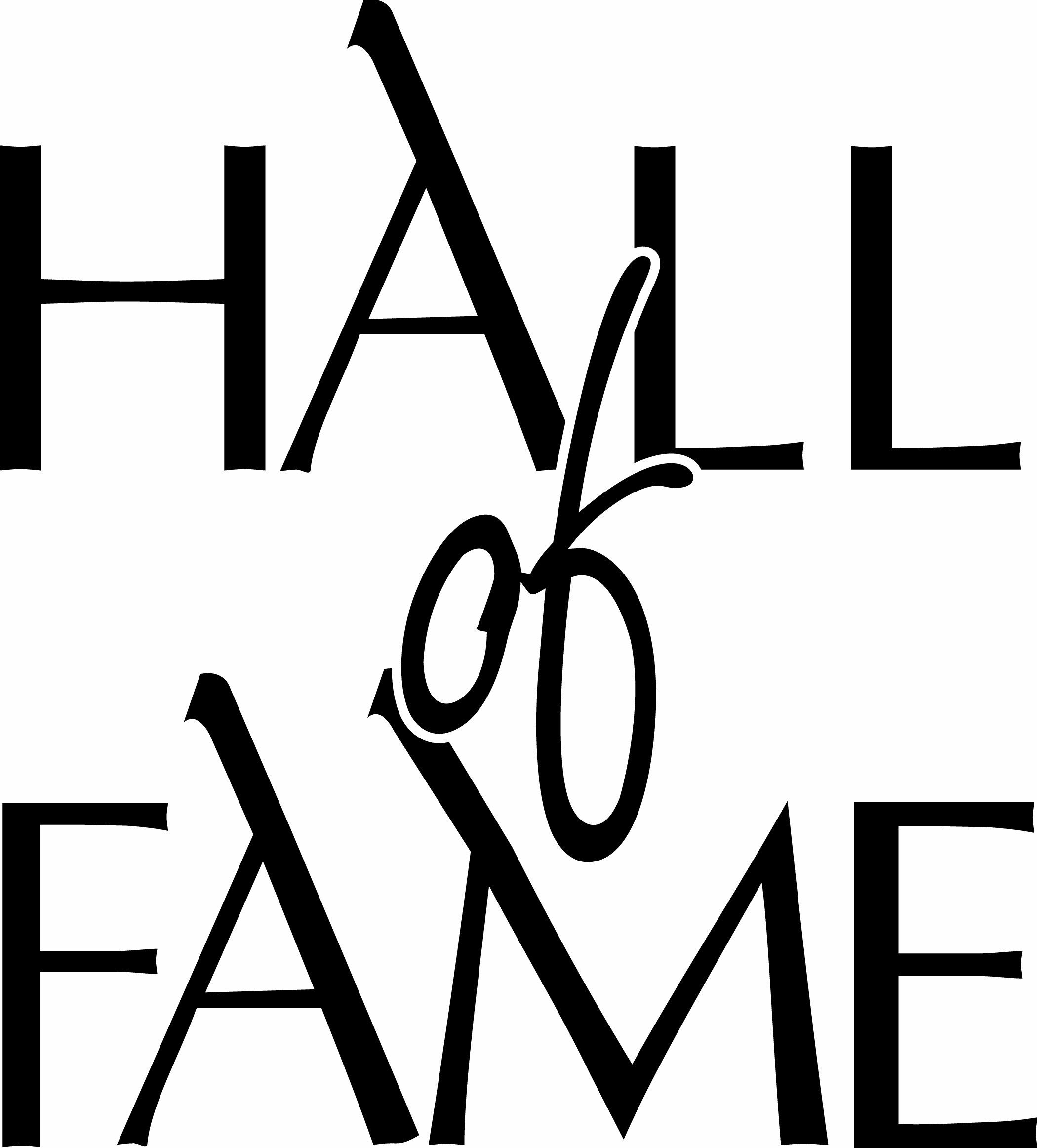Hall of fame clipart.