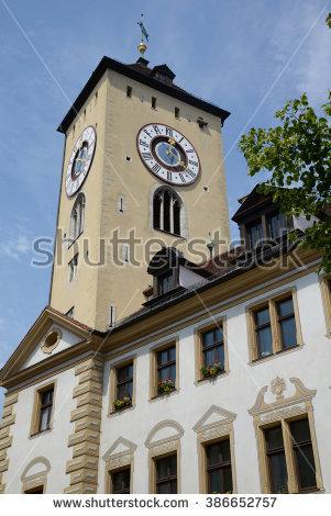 City Hall City Hall Regensburg Stock Photos, Royalty.