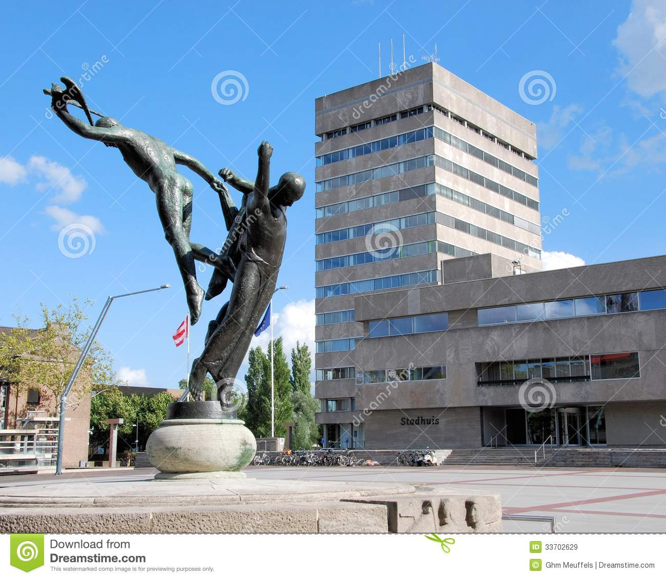 Town Hall And Statue Of Liberty, Stadhuisplein , Eindhoven.